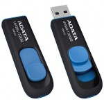 Флешка A-Data DashDrive UV128 Black/Blue 32GB [AUV128-32G-RBE]