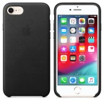 Чехол Apple Leather Case для iPhone 8 / 7 Black