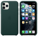 Чехол Apple Leather Case для iPhone 11 Pro (зеленый лес)