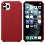 Чехол Apple Leather Case для iPhone 11 Pro Max (красный)