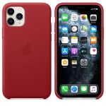 Чехол Apple Leather Case для iPhone 11 Pro (красный)